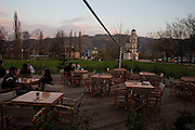 Outdoor cafe of the DFK club in downtown Banja Luka, where Kultur Shock played on Saturday April 2, 2011...