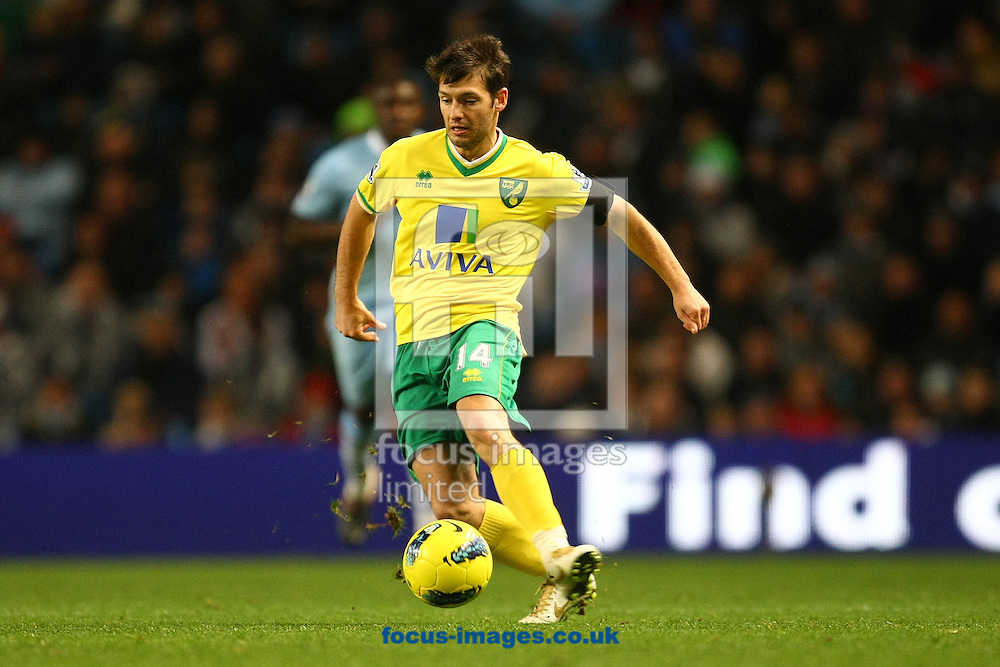 Picture by Paul Chesterton/Focus Images Ltd.  07904 640267.03/12/11.Wes Hoolahan of Norwich in action during the Barclays Premier League match at the Etihad Stadium, Manchester.