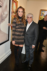 TAMARA ECCLESTONE -RUTLAND and her father BERNIE ECCLESTONE at a party to celebrate the launch of the Maddox Gallery at 9 Maddox Street, London on 3rd December 2015.