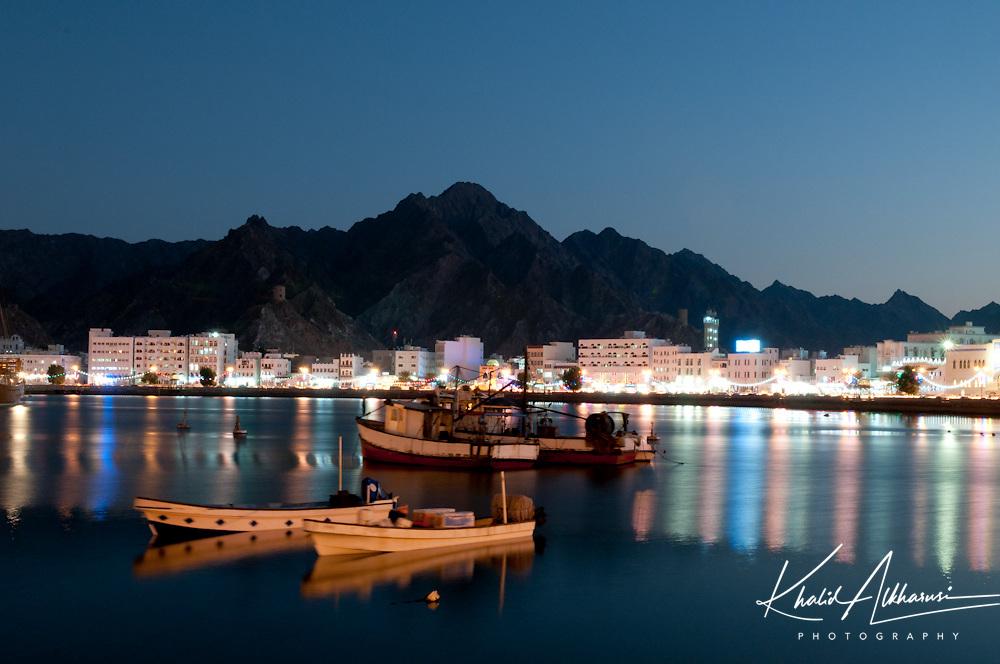 Mattrah city, Oman, great night views oman