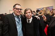 DEXTER DALWOOD; GEORGE CONDO, George Condo - private view . Simon Lee Gallery, 12 Berkeley Street, London, 10 February 2014