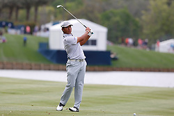March 16, 2019 - Ponte Vedra Beach, FL, U.S. - PONTE VEDRA BEACH, FL - MARCH 16: Hideki Matsuyama of Japan plays a shot on the 18th hole during the third round of THE PLAYERS Championship on March 16, 2019 on the Stadium Course at TPC Sawgrass in Ponte Vedra Beach, Fl. (Photo by David Rosenblum/Icon Sportswire) (Credit Image: © David Rosenblum/Icon SMI via ZUMA Press)