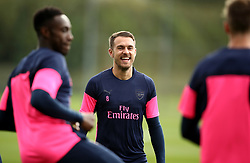 Arsenal's Aaron Ramsey during the training session at London Colney, Hertfordshire.