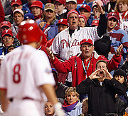 OT_296591_CASS_rays_31<br /> BRIAN CASSELLA   |   Times<br /> (10/25/2008 PHILADELPHIA) Phillies fans boo the umpire as Shane Victorino strikes out looking in the fourth inning.<br /> <br /> <br /> MAJOR LEAGUE BASEBALL - Tampa Bay Rays vs Philadelphia Phillies in Game 3 of the World Series at Citizens Bank Park on Saturday (10/25/08).
