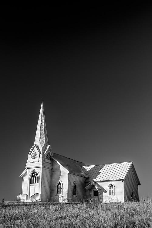 The historic Sherman Church in Lincoln County, Washington.
