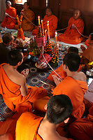 Chanting Ceremony - Often performed for weddings and other auspicious occasions as a part of the Buddhist tradition in Laos.  Lao Buddhism is a unique version of Theravada Buddhism and is at the basis of Lao culture. Buddhism in Laos is often closely tied to animist beliefs and belief in ancestral spirits, particularly in rural areas.