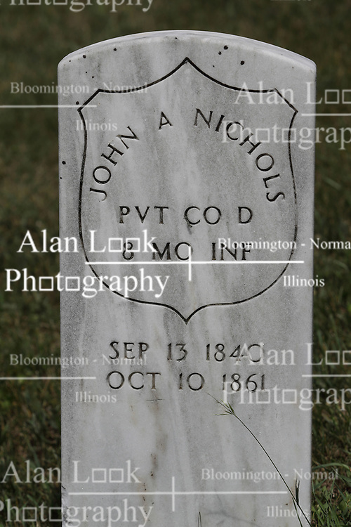 Freemont Cemetery in McLean County, east of McLean.<br /> <br /> John A Nichols, PVT Co D 8 MO INF