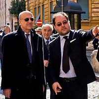 Il capo della polizia Alessandro Pansa visita il Ghetto ebraico di Roma.