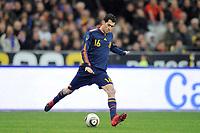 FOOTBALL - FRIENDLY GAME 2010 - FRANCE v SPAIN - 03/03/2010 - PHOTO JEAN MARIE HERVIO / DPPI - SERGIO BUSQUETS (SPA)