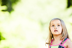 Portrait of Young Girl Outdoors