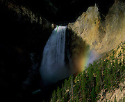 A waterfall in Yellowstone National Park, Wyoming, USA