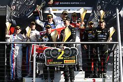 May 7, 2018 - Brands Hatch, Grande Bretagne - 26 SAINTELOC RACING (FRA) AUDI R8 LMS NYLS STIEVENART (FRA) MARKUS WINKELHOCK (DEU) WINNERS IN PRO AM #37 3Y TECHNOLOGY (FRA) BMW M6 GT3 ANDREW WATSON (GBR) LUKAS MORAES (BRA) SECOND IN PRO AM #39 TP 12 KESSEL RACING (THA) FERRARI 488 GT3 PITI BHIROMBHAKDI (THA) CARLO VAN DAM (NDL) THIRD IN PRO AM #90 AKKA ASP (FRA) MERCEDES AMG GT3 NICO BASTIAN (DEU) JACK MANCHESTER (GBR) WINNER IN SILVER CUP (Credit Image: © Panoramic via ZUMA Press)