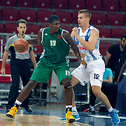 Panathinaikos's Steven SMITH (L) during their Two Nations Cup basketball match Fenerbahce Ulker between Panathinaikos at Abdi Ipekci Arena in Istanbul Turkey on Sunday 02 October 2011. Photo by TURKPIX