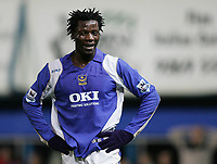 Photo: Lee Earle.<br /> Portsmouth v Aston Villa. The Barclays Premiership. 02/12/2006. Portsmouth's Benjani looks dejected after going close.