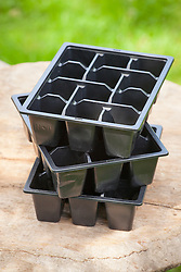 Black plastic seed tray liners