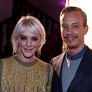 NLD/Amsterdam/20131111 - Beau Monde Awards 2013, Stacey Rookhuizen en ontwerper Claes Iversen
