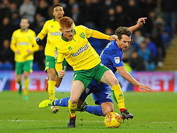 Harrison Reed of Norwich City challenges Craig Bryson of Cardiff City-Mandatory by-line: Nizaam Jones/JMP - 01/12/2017 -  FOOTBALL - Cardiff City Stadium- Cardiff, Wales-  Cardiff City v Norwich City- Sky Bet Championship