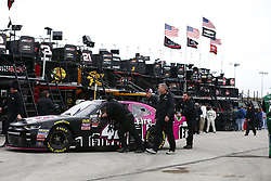 October 19, 2018 - Kansas City, Kansas, United States of America - John Hunter Nemechek (42) hangs out in the garage during practice for the Kansas Lottery 300 at Kansas Speedway in Kansas City, Kansas. (Credit Image: © Justin R. Noe Asp Inc/ASP via ZUMA Wire)