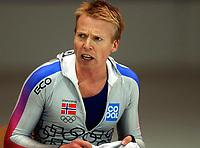 Skøyter: Verdenscup Heerenveen 13.01.2002. Kjell Storelid fra Norge.<br /><br />Foto: Ronald Hoogendoorn, Digitalsport