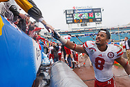 Ameer Abdullah led the Huskers to a  24-19 victory over No. 22 Georgia in the TaxSlayer.com Gator Bowl at EverBank Field on Jan. 1, 2014. Abdullah had 122 hard-earned yards on 27 carries with one touchdown. It was Abdullah's 11th 100-yard rushing game of the year, tying a school record for the most 100-yard games in a season held by Mike Rozier (1983), Lawrence Phillips (1994) and Ahman Green (1997). © Aaron Babcock