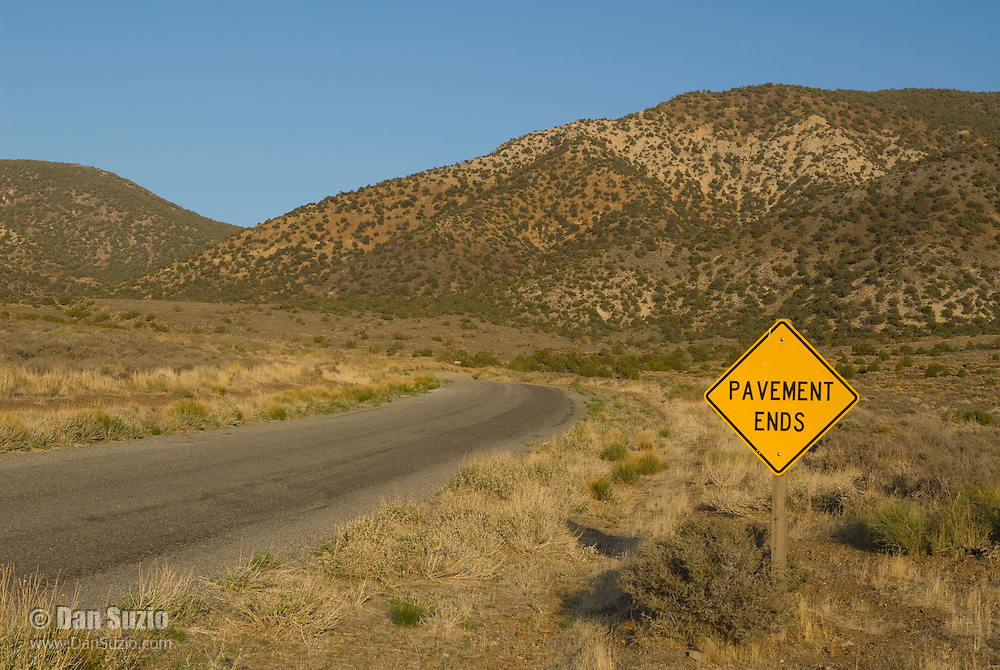 Sign in Wildrose Canyon, Death Valley National Park, California