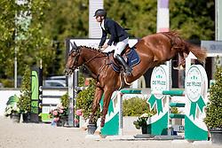 Oostvogels Jordy, BEL, Qrimson P<br /> BK Young Horses 2020<br /> © Hippo Foto - Sharon Vandeput<br /> 6/09/20