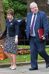 Downing Street, London, June 16th 2015. Leader of the House of Lords Baroness Stowell  arrives at 10 Downing Street for the weekly cabinet meeting accompanied by Transport Secretary Patrick McLoughlin.