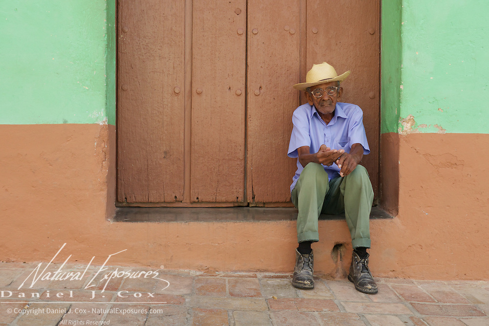 A blind man on the streets of Trinidad, Cuba.