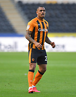 Hull City's Josh Magennis<br /> <br /> Photographer Dave Howarth/CameraSport<br /> <br /> The EFL Sky Bet League One - Hull City v Crewe Alexandra - Saturday 19th September 2020 - KCOM Stadium - Kingston upon Hull<br /> <br /> World Copyright © 2020 CameraSport. All rights reserved. 43 Linden Ave. Countesthorpe. Leicester. England. LE8 5PG - Tel: +44 (0) 116 277 4147 - admin@camerasport.com - www.camerasport.com