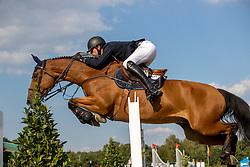 Wathelet Gregory, BEL, Indago<br /> Belgisch Kampioenschap Jumping  <br /> Lanaken 2020<br /> © Hippo Foto - Dirk Caremans<br /> 02/09/2020