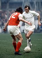 Terry Cooper - Leeds. Leeds United v Arsenal, 25/3/72. Credit: Colorsport.