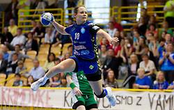 Ariane Geissmann of Krim  during handball match between ZRK Krka and RK Krim Mercator in Final of Slovenian Women Cup, on April 3, 2011, in Sports Arena Zagorje, Slovenia. (Photo by Vid Ponikvar / Sportida)