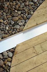 Detail of steel rill running through decked area. Design: Diarmuid Gavin