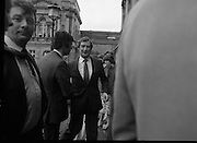 TDs arrive for the opening session of the 23rd Dáil...9-03-82.03-09-1982.9th March 1982..Pictured At Leinster House.