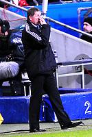Fotball Privat Landskamp 01.04.2009<br /> Ullevaal Stadium <br /> Norge vs Finland<br /> Norway vs Soumi<br /> <br /> Result  3 -2<br /> <br /> Foto: Jarl Robert Christensen Digitalsport<br /> <br /> Finland Soumi trener Stuart Baxter ber gutta bruke øynene