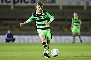Forest Green Rovers Nathan Trueman(4) on the ball during the The FA Youth Cup match between Bristol Rovers and Forest Green Rovers at the Memorial Stadium, Bristol, England on 2 November 2017. Photo by Shane Healey.