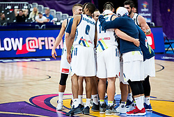 Players of Slovenia celebrate after winning during basketball match between National Teams of Slovenia and France at Day 7 of the FIBA EuroBasket 2017 at Hartwall Arena in Helsinki, Finland on September 6, 2017. Photo by Vid Ponikvar / Sportida