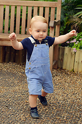 File photo dated 02/07/14 that was taken to mark Prince George's first birthday, as the eldest son of the Duke and Duchess of Cambridge will turn six on Monday.