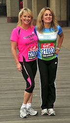 © under license to London News Pictures. 15/04/2010 Cheryl Baker and Jay Aston attends photocall ahead of this Sundays 2011 London Virgin Marathon by Tower Bridge London. Photo credit should read ALAN ROXBOROUGH /LNP