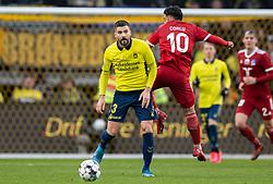 Anthony Jung (Brøndby IF) under kampen i 3F Superligaen mellem Brøndby IF og Lyngby Boldklub den 1. marts 2020 på Brøndby Stadion (Foto: Claus Birch).