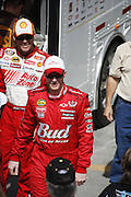 Kevin Harvick and Dale Earnhardt Jr. at a NASCAR race at the Las Vegas Motor Speedway, Las Vegas, Nevada.