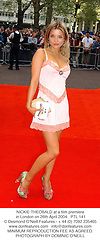 NICKIE THEOBALD at a film premiere in London on 26th April 2004.PTL 141