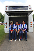 Windsor, Great Britain,    left to right, Andy TRIGGS HODGE, James FOAD and Greg SEARLE. Team GB, 2012 Olympic games, London, Rowing Team announcement  photocall  The Long Walk, Windsor Great Park, Windsor, Berks Wednesday  06/06/2012 . . [Mandatory Credit. Peter Spurrier/Intersport Images]
