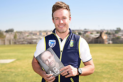 Protea cricket captain, AB De Villiers during the launch of his book at Alexandra Cricket Club in Alexandra, 1 September 2016. De Villiers donated books to a group of cricket clubs in under priveliged areas as part of the launch.