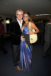 CHRIS EVANS and his wife NATASHA SHISHMANIAN at the GQ Men of the Year Awards held at the Royal Opera House, London on 2nd September 2008.<br /> <br /> NON EXCLUSIVE - WORLD RIGHTS