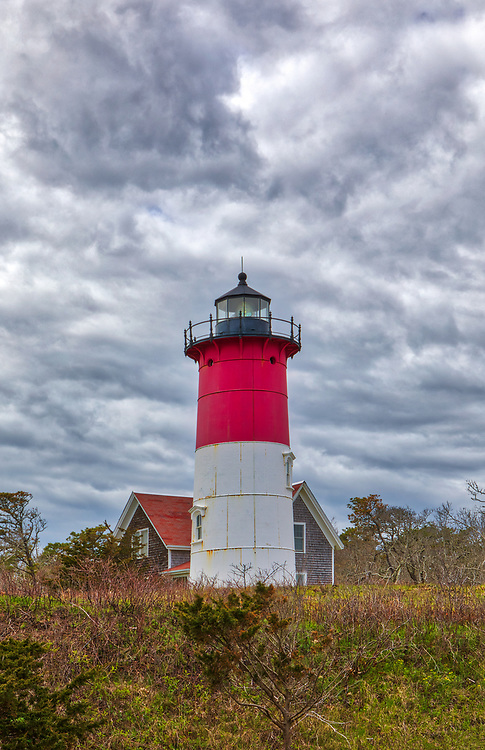 Cloudy day at Nauset Beach Lighthouse on Cape Cod in Eastham, Massachusetts.<br /> <br /> Cloudy day at Nauset Beach Lighthouse photography photos are available as museum quality photo, canvas, acrylic, wood or metal prints. Wall art prints may be framed and matted to the individual liking and New England interior design projects decoration needs.<br /> <br /> Good light and happy photo making!<br /> <br /> My best,<br /> <br /> Juergen