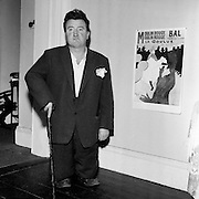 Brendan Behan in the guise of Toulouse Lautrec..10.08.1960