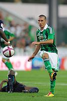FOOTBALL - FRENCH CHAMPIONSHIP 2011/2012 - L1 - AS SAINT ETIENNE v AS NANCY LORRAINE - 13/08/2011 - PHOTO JEAN MARIE HERVIO / DPPI - LAURENT BATLLES (ASSE)