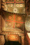 Painted ceiling in BetMaryam church, Lalibela, Ethiopia, Horn of Africa