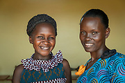 Portrait of two African women smiling, Musoto, Mbale, Uganda